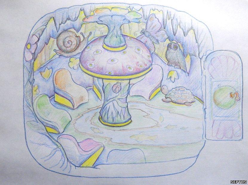 Эскиз детской соляной пещеры